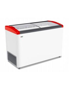 Ларь морозильный Frostor GELLAR FG 400 Е красный с гнутыми стеклами (4 корзины)