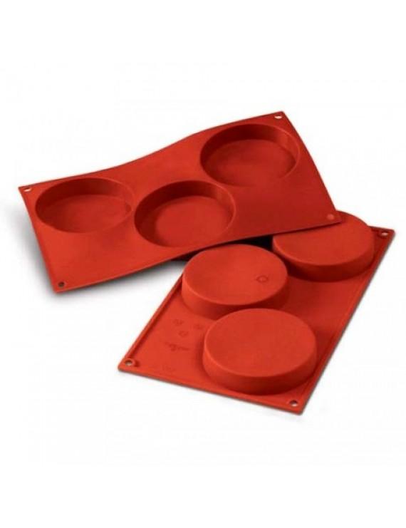 Форма для выпечки Круг d=103мм h=20мм, 3 элемента, силикон Silicon Flex SF042/S