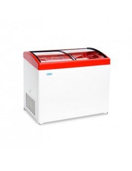 Ларь морозильный Снеж МЛГ-350 с гнутым стеклом (0...+10) серый