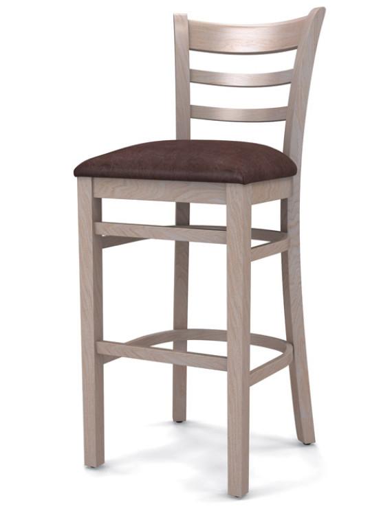 Стул барный «Оксфорд» с мягким сиденьем (деревянный каркас)