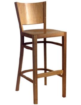 Стул барный «Бельз» с жестким сиденьем (деревянный каркас)