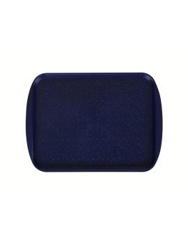 Поднос столовый 415х305 мм с ручками темно-синий
