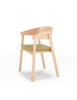 Кресло «Cava» с мягким сиденьем (деревянный каркас)