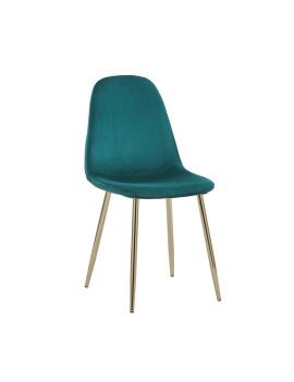 Стул «Айриш велюр» с мягким сиденьем (хромированный каркас)