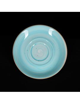 Блюдце 150 мм голубое «Corone Natura»