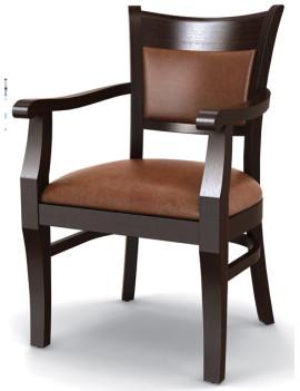 Стул «Честер» с мягким сиденьем и подлокотниками (деревянный каркас)