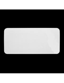 Блюдо прямоугольное «Chan Wave» 360х165 мм плоское [ivory LQ-QD0341C]