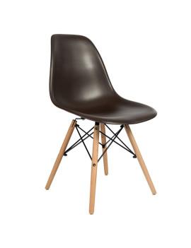 Стул «Eames» с жестким сиденьем (деревянный каркас)