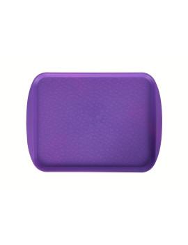 Поднос столовый 415х305 мм с ручками фиолетовый
