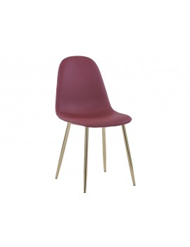 Стул «Айриш экокожа» с мягким сиденьем (хромированный каркас)