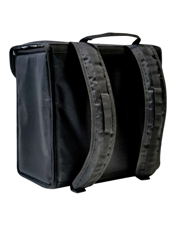 Терморюкзак 400х250х450 мм фольгированный чёрный
