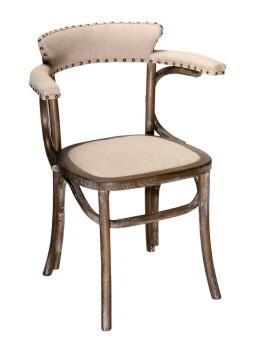 Кресло «Мец» с мягким сиденьем (деревянный каркас)