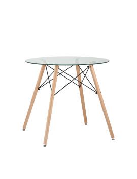 Стол обеденный «Eames D-800 мм Стекло» нераздвижной