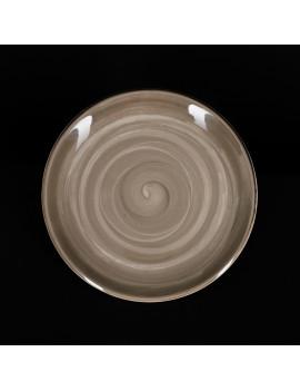 Тарелка мелкая 255 мм серо-коричневая «Corone Natura»
