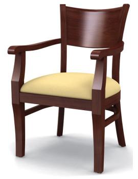 Стул «Бристоль» с мягким сиденьем и подлокотниками (деревянный каркас)