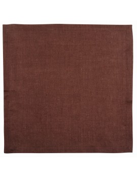 Салфетка 42х42 см «Лен» коричневая