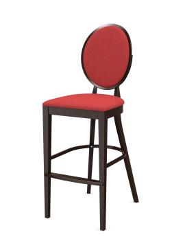Стул барный «Ницца» с мягким сиденьем (деревянный каркас)
