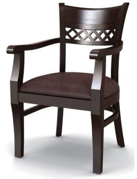 Стул «Эдинбург» с мягким сиденьем и подлокотниками (деревянный каркас)