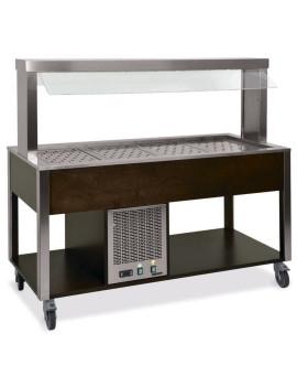 Стол Шведский охлаждаемый MetalCarrelli (защитное стекло статичное) [6900]