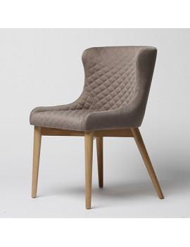 Стул «Vetro с прошивкой» с мягким сиденьем (деревянный каркас)