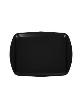 Поднос столовый 490х360 мм черный полипропилен