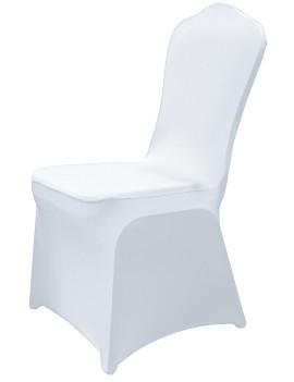 Чехол универсальный на стул из бифлекс цвет белый