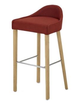 Стул барный H-5005 LUBI мягким сиденьем (деревянный каркас)