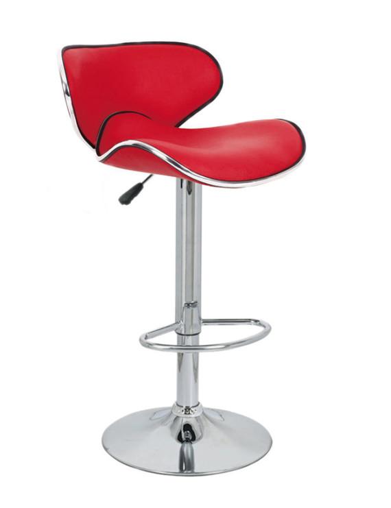 Барный стул «Сатурн» с мягким сиденьем (хромированный каркас)