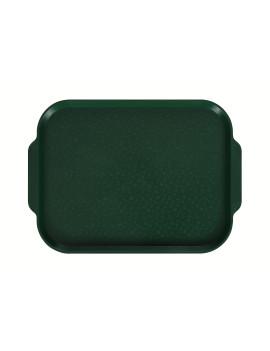 Поднос столовый 450х355 мм с ручками темно-зеленый