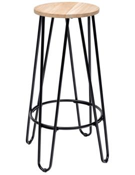 Стул полубарный «Айва» с жестким сиденьем (стальной каркас)