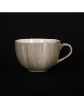 Чашка чайная 320 мл серо-коричневая «Corone Natura»