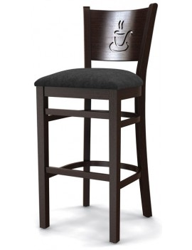 Стул барный «Бристоль» с мягким сиденьем (деревянный каркас)