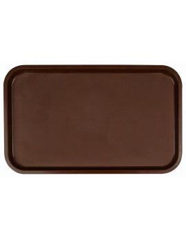 Поднос столовый из полипропилена 530x330 мм темно-коричневый