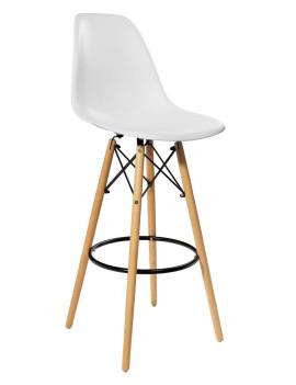 Стул барный «Eames» с жестким сиденьем (деревянный каркас)