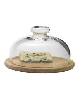 Поднос для сыра деревянный со стеклянной крышкой [03171615]