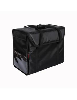 Терморюкзак 500х300х400 мм, фольгированный чёрный