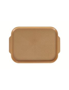 Поднос столовый 450х355 мм с ручками золотой