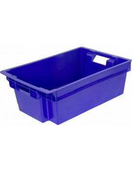 Ящик 600х400х200 мм сплошной, мясо-молочный, ПЭНД [м/м 2.1(2)]