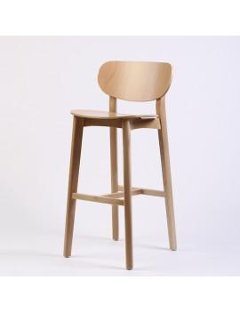 Стул барный «Ginger» с жестким сиденьем (деревянный каркас)