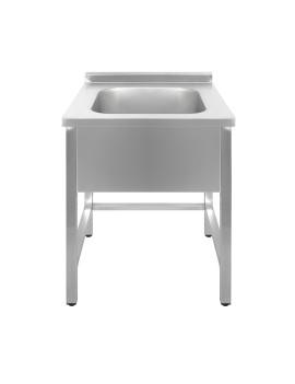 Ванна моечная односекционная Luxstahl ВМ1 7/7/8.5 (0.8)