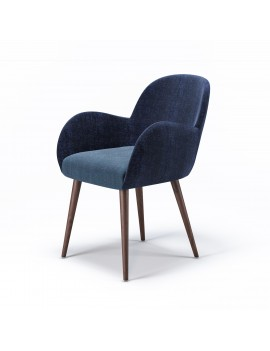 Кресло «Aniva» с мягким сиденьем (деревянный каркас)