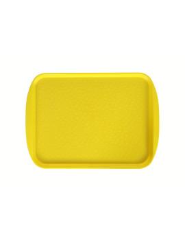 Поднос столовый 415х305 мм с ручками желтый