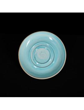 Блюдце 114 мм голубое «Corone Natura»