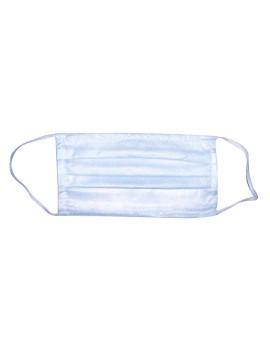 Маска защитная одноразовая 3-х слойная из спанбонда на резинке голубая