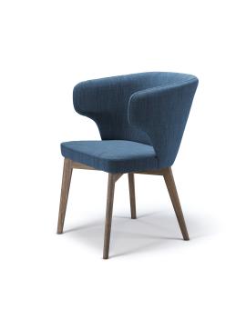 Кресло «Marco M2» с мягким сиденьем (деревянный каркас)