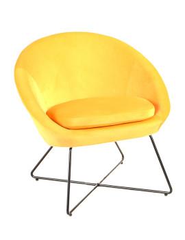 Кресло «Корнелия» с мягким сиденьем (хромированный каркас)