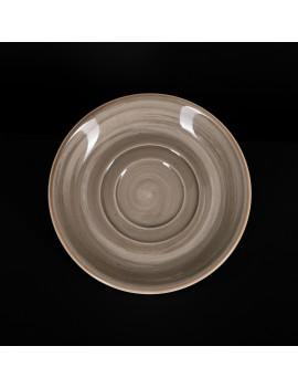 Блюдце 150 мм серо-коричневое «Corone Natura»