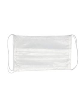 Маска защитная одноразовая 3-х слойная из спанбонда на резинке белая