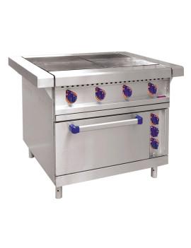 Плита электрическая ABAT ЭП-4ЖШ четырехконфорочная с жарочным шкафом (лицевая нерж, серия 900)