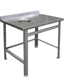 Стол пристенный для сбора отходов СППО 9/6 э (отверстие слева)